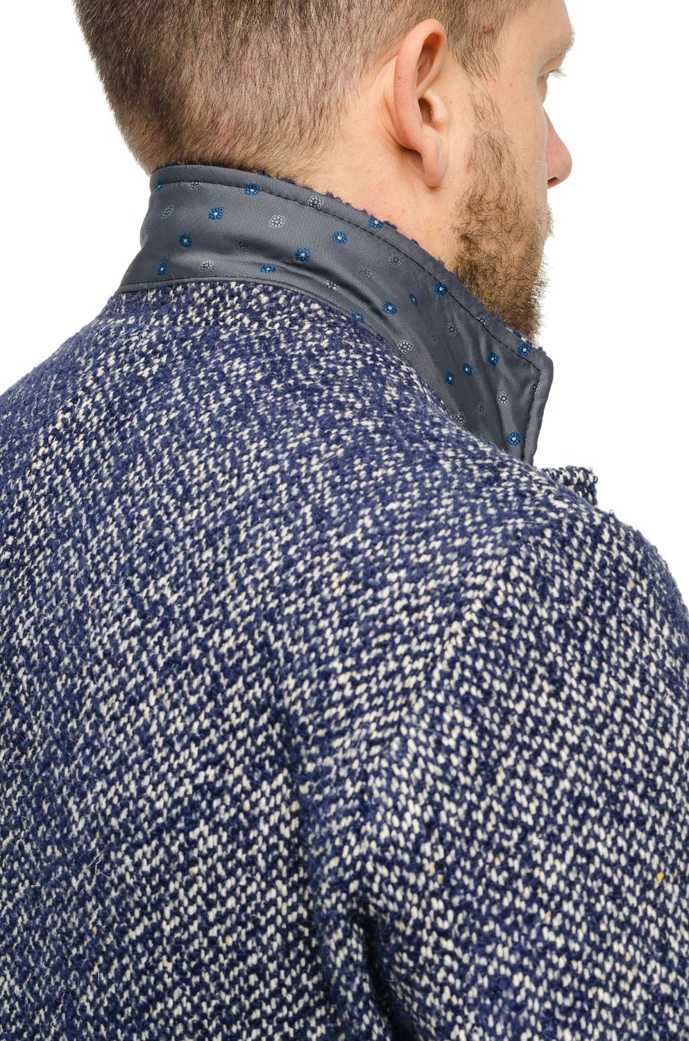 MINUSH | Cappotto Long tweed Blu