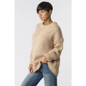 maxi maglia - beige