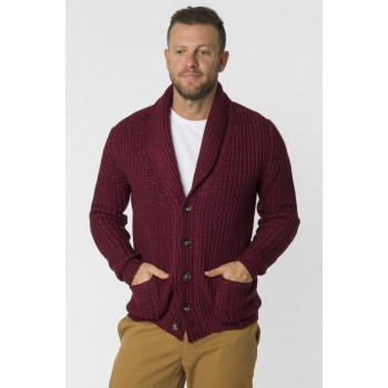 Cardigan coste tinto capo  Bordeaux