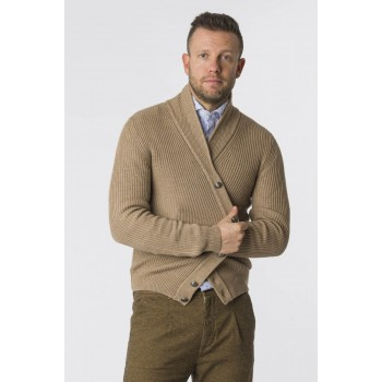 Cardigan Costa inglese collo Beige