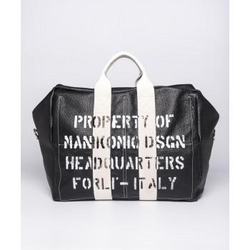 Borsa Aviators kit Bag in Pell - Nero