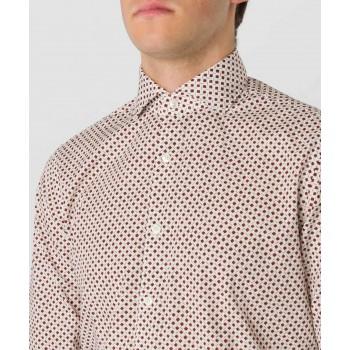 Camicia stampa popeline  Rosso