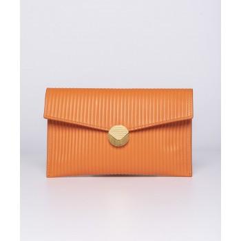 Pochette Patty tessuto rilievo - Arancio