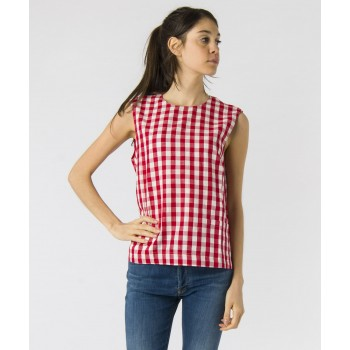 Top Clarie Vichy  Rosso