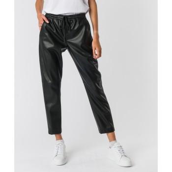 Pantalone Buddy ecopelle Nero
