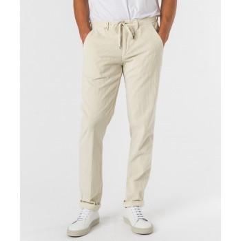 Pantalone Laccio cvelluto 500  Bianco