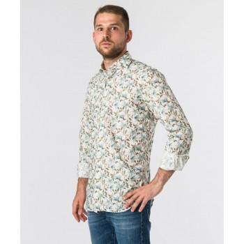 Camicia Fantasia Liberty Lond  Bianco