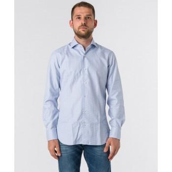 Camicia Culto pied de poule  Azzurro
