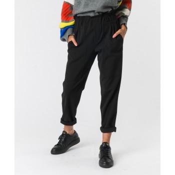Pantalone largo scuba  Nero