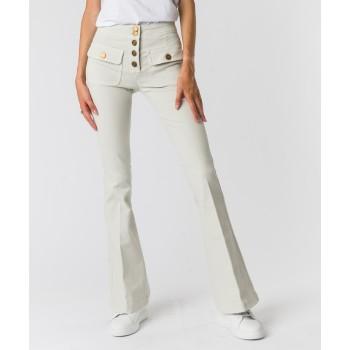 Jeans tasche davanti pattine Bianco