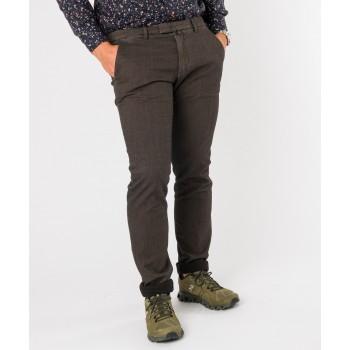 Pantalone gabardina mano lana  Marrone