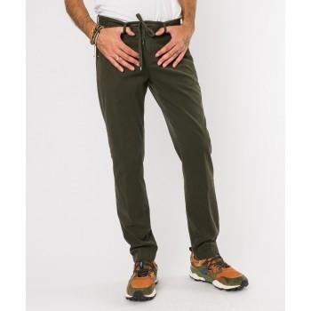 Pantalone Laccio cotone-modal  Verde