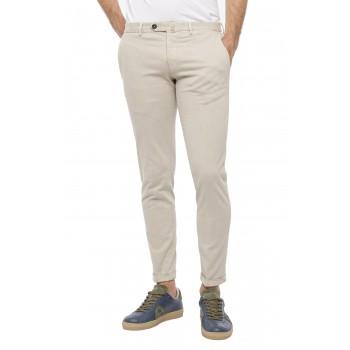 Pantalone Dowel raso stretch  Ghiaccio
