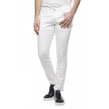 Jeans Dylan bull bianco Bianco