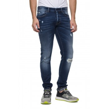Jeans 901 Dylan strappato scur  Blu