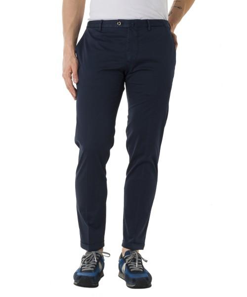 Pantalone Dowel Raso Soft Touc  Blu