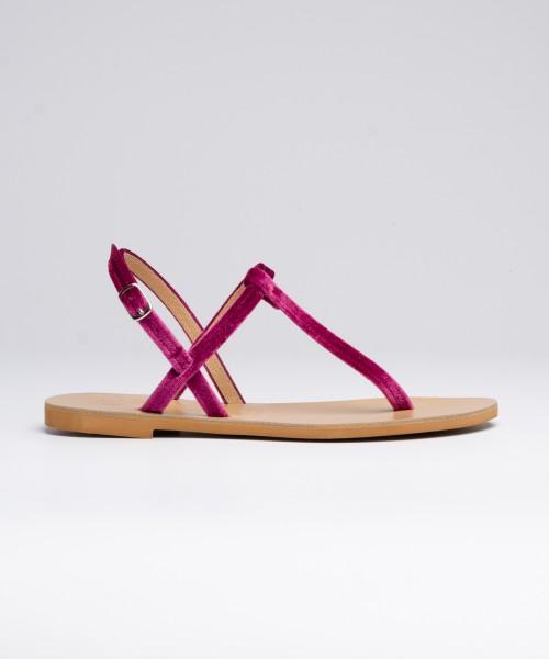 Sandalo Archita Velluto  Viola