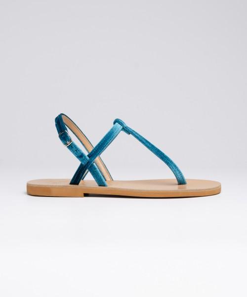 Sandalo Archita Velluto  Verde