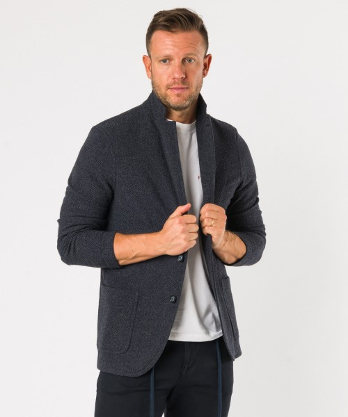 Giacca maglia lana-cotone j. Blu